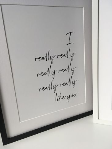 I really really... like you & And I want you... (A3 monochrome prints)